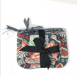 Vera Bradley Nomadic Floral Cosmetic Trio Bags